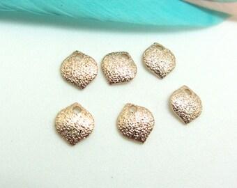 Set of 2 Pastilles 7 mm Rose Gold Metal effect sand Premium quality - 7 mm