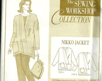 Womens Nikko Jacket Size S M L (8 - 18) Uncut Pattern by Sewing Workshop