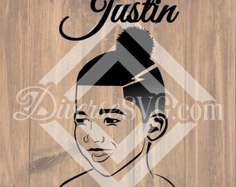 Justin Black Boy SVG