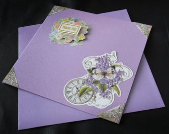 Pretty card with envelope provided and matching thank you