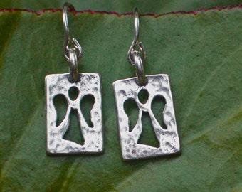 Guardian Angel Silver Earrings - Angel Jewelry
