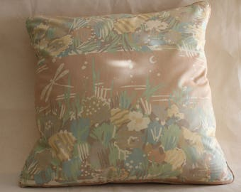 "17"" cushion cover vintage 1980s Collier Campbell Water Meadow 2"