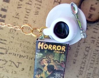 Horror Genre Coffee Cup Chain Bookmark