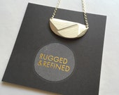Small Sterling Silver Woven Necklace