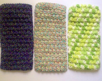 Crocheted Reusuable Swiffer covers, set of 3, eco friendly, Cotton, Swiffer mop