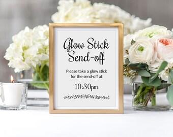 Glow Sticks, Glow Stick Send Off, Glow Stick Sign, Glow Stick Wedding, Wedding Reception Send-off, Glow Stick Printable Sign, Glo stick