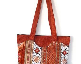 Hippie tote bag, hippie bag, hippie shoulder bag, boho tote bag, boho bag, bohemian bag, cute bag, ethnic bag, ethnic tote bag, bag gift
