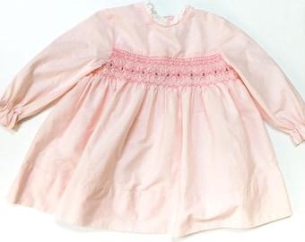 Pink smocked Toddler dress