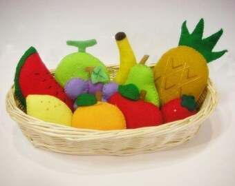 Felt Fruit Sewing Patterns and Instructions PDF Cute Easy.