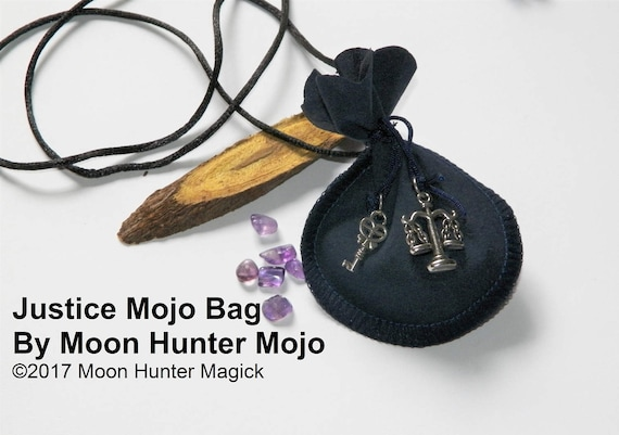 Justice Court Case Mojo Bag Moon Hunter Mojo Hand Made