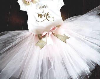 First Birthday outfit- tutu outfit- cake smash outfit-1st birthday outfit- first birthday onesie- ballerina birthday- unicorn 1st birthday
