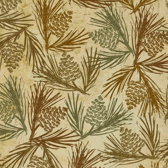 Butter Pine Cone Flannel Wilderness Flannel Clothworks. Rustic ...