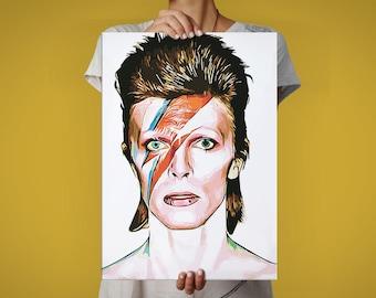 David Bowie/Ziggy Startdust MetPlate - Music Collection