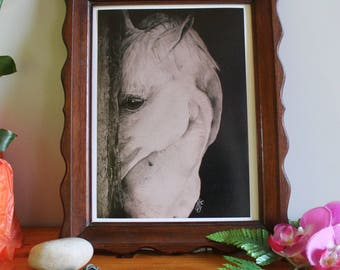 """""""The white horse"""" A4 poster"""