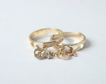 """ring """"he and she"""""""