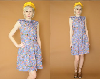 Kitty Kawaii vintage 80s dress