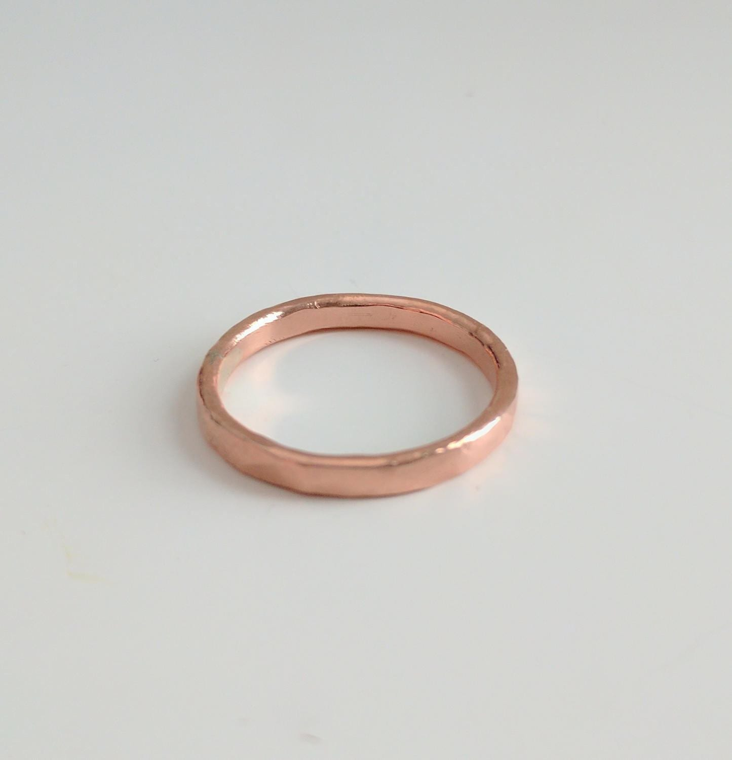 Hammered Finish Bands: Hammered Finish Copper Band Ring Copper Wedding Band Style