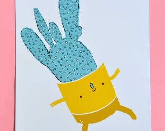 Happy Cactus Dance (Print)