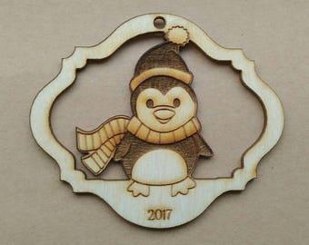Penguin - Wooden Ornament