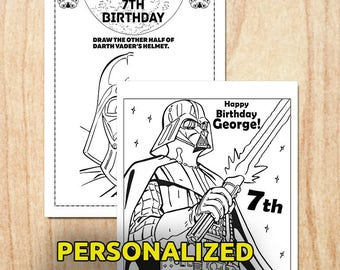 Star Wars Coloring pages / Personalized / Printable / Digital / PDF