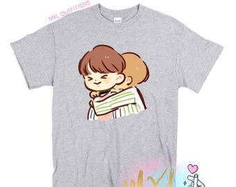 VJin T-Shirt // BTS Taehyung and Jin T-Shirt (Design by Yeooongi)
