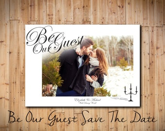 Be Our Guest Save The Date (Disney Save The Date) DIGITAL FILE!