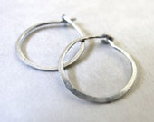Sterling Hoops - tiny sil...