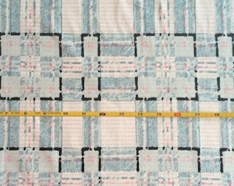 NEW Art Gallery Type-Plaid Allusion  on cotton Lycra  knit fabric 1 yard