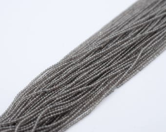 Gray Moonstone 2mm Faceted Rondelle Beads