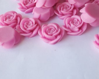 Light Lilac OPEN ROSE Cabochons - 20mm - Lot of 10 - Purple Rose Cab