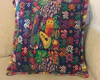 Organic, hand woven pillow cover