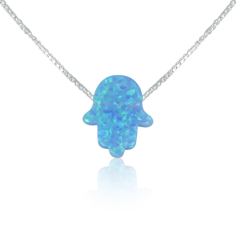 fullxfull seller hand listing best il opal hamsa on necklace blue zoom