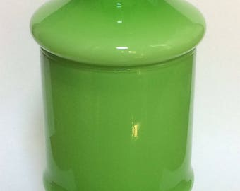 Mid-Century Empoli Lidded Cased Glass Jar