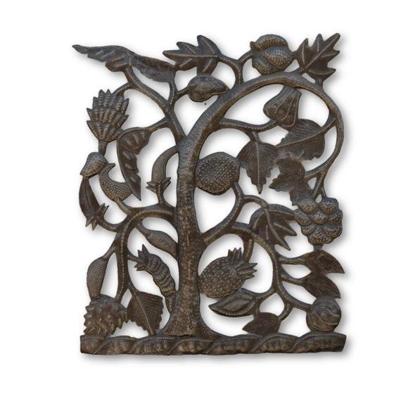 Beautiful Fruit Tree,  Handmade Quality Haitian Sculpture, One-of-a-Kind Art 17.5 x 14
