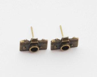 Photographer Earrrings, Camera Earrings, Selfie Earrings, Photographer Gifts, Gifts Under 20, Vintage Camera Earrings, Camera Jewelry