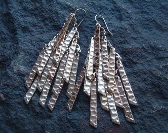 Earrings, Vintage Earrings, Vintage Dangle Earrings, Hippie Boho Earrings