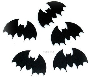 Set of Black Bat Cut outs, Die cuts, Embellishments - Set of 30pcs, 60pcs, 120pcs-or Choose Your Colors