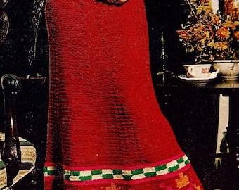 Peruvian Skirt Vintage Crochet Pattern Instant Download