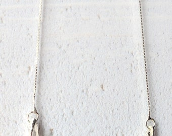 Antlers Silver and Gold necklace: reversible