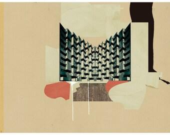 Abstract collage, art print, modern art, Abstract composition XXXVIII