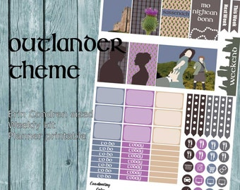 Outlander themed Weekly Planner kit - Printable - for Erin Condren