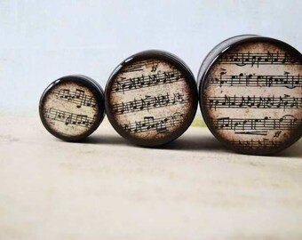 Vintage Sheet Music Boxes - Set of 3 - Different sizes, Wood Boxes, Storage Boxes, Gift Boxes, Pill Box, Powder Box, Music