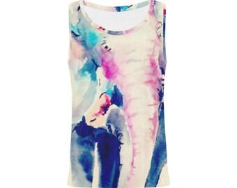 The Magic Elephant Walk Vest - Designed by Artist Dani ki     - Tshirt/ Top/ Vest
