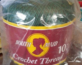 South Maid Crochet Thread Forest Green 350 Yards