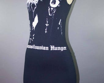 Darkthrone Transilvanian Hunger Tshirt Lace Dress Heavy Metal Black Metal Band Merch Goth Rock Punk Mayhem Ghost Mini Dress