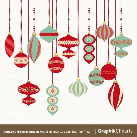 vintage christmas ornaments clipart christmas clipart rh etsy com vintage christmas clipart black and white vintage christmas clipart borders