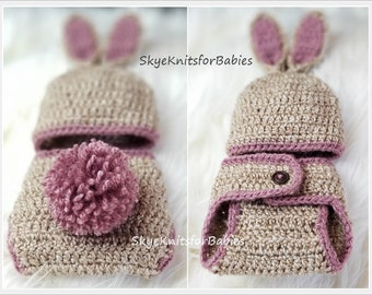 Baby Bunny Outfit, Baby Bunny Ears Hat, Bunny Hat, Baby Girl Hat, Baby Boy Hat, Crochet Baby Bunny Hat, Newborn Bunny Hat, Baby Easter Hat