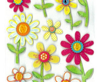 Large Daisy Dimensional Stickers