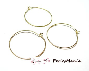 Primer 40 hoops support quality jewelry copper P0672 gold 25 mm