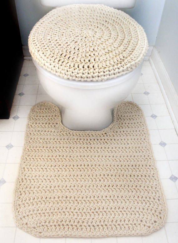 Toilet Seat Cover And Contour Rug Pdf Crochet Pattern